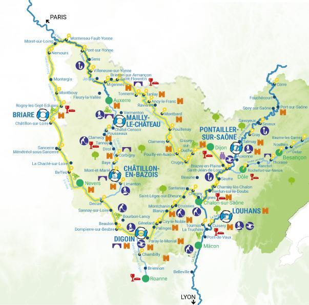 Carte bases Bourgogne 2022